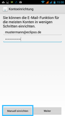 Android: Create manually