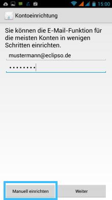 Android: Manuell einrichten