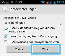 Android: Weitere Einstellungen