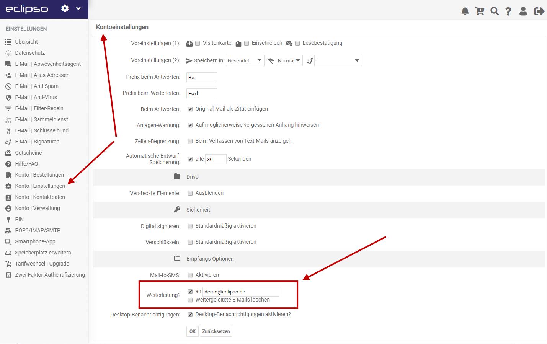 E-Mails automatische weiterleiten
