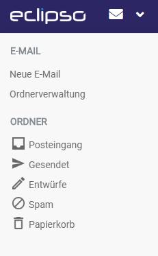 E-Mail Systemordner Hauptansicht