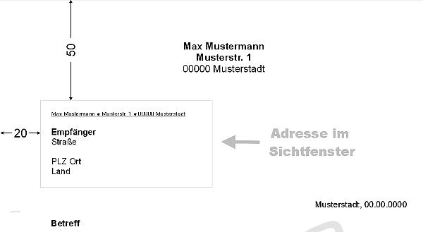 Briefe richtig formatieren und adressieren
