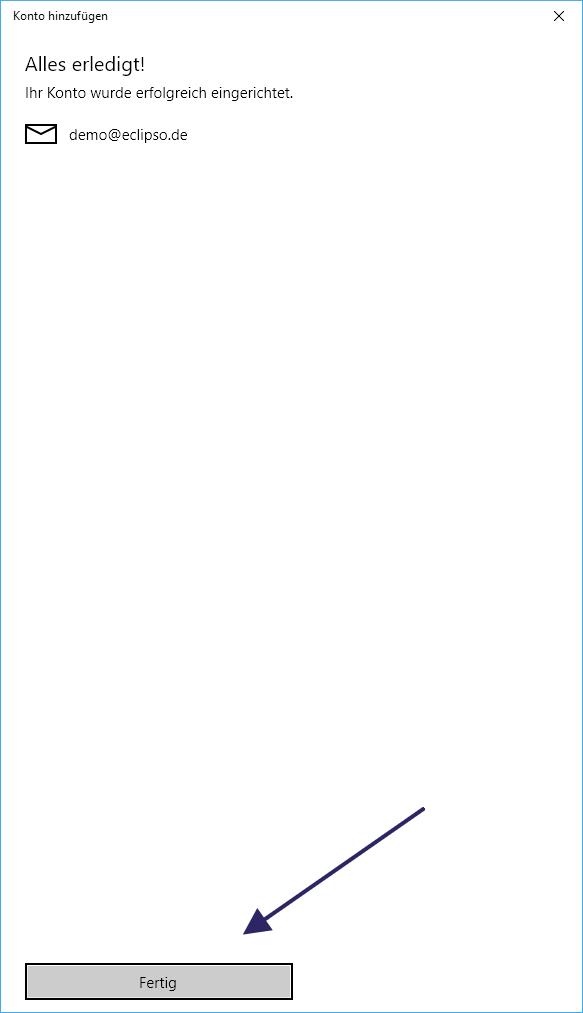 Die Windows 10 Mail App ist eingerichtet